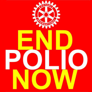 Words: END POLIO NOW