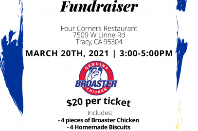 Flyer for Area 4 Chicken Boaster Dinner with Rotary Logo and text
