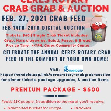 Ceres Crab Grab Feb 27 & Auction Feb 14-28