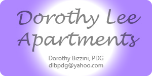 Ad for Dorothy Lee Apartments with contact info