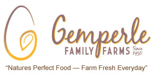 Ad for Gemperle Family Farms with logo