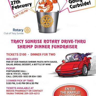Tracy Sunrise Drive Thru Shrimp Dinner Feb 27th