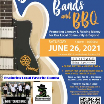 Books, Bands & BBQ-June 26, 2021