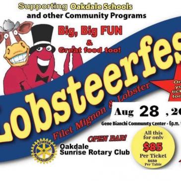 Oakdale Sunrise Lobsteerfest August 28th