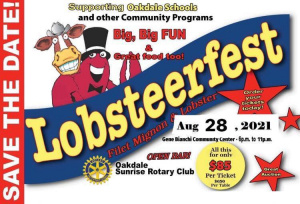 Cartoon of a cow & Lobster ad for event