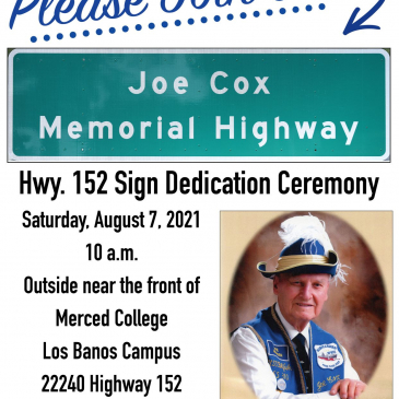 Joe Cox Memorial Highway Dedication