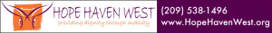Ad for Hope Haven West with logo